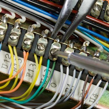 an electrical engineer rewiring home electrics in Cambridgeshire
